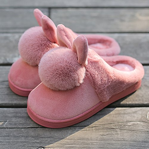[Female cotton slippers autumn and winter home warm slippers thick bottom indoor lovely hairy shoes ( Color : Brown , Size : EUR:35-36 )] (Brown Hairy Feet)