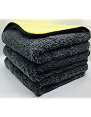 Car Carepoint 3 Pack of Professional 800 GSM Microfiber Cleaning Cloths
