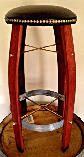 Wine Barrel Stave Bar Stool Counter Stool (Wine Barrel Counter Stool)