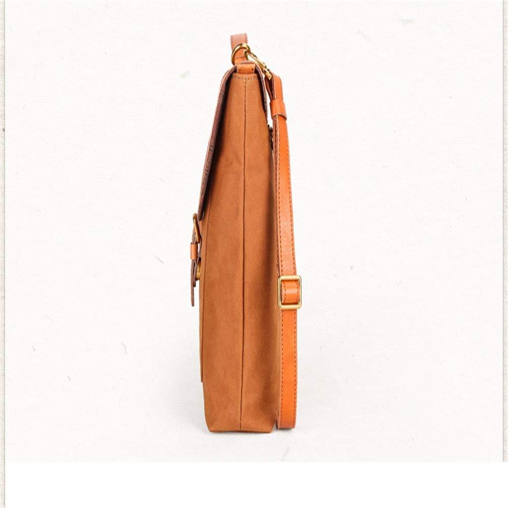 FLYSXP Vintage Canvas Messenger Bag Laptop Bag Shoulder Bag Briefcase 14 Inch Handbag Shoulder Bag Bag with Removable Strap Briefcase Color : Blue
