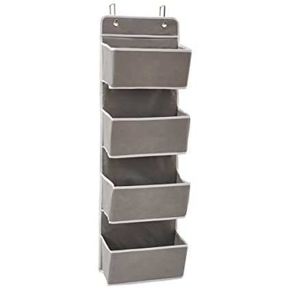EZOWare Over The Door Storage Organizer Hanging Shelves With 4 Large Pockets For Nursery Children Bedroom