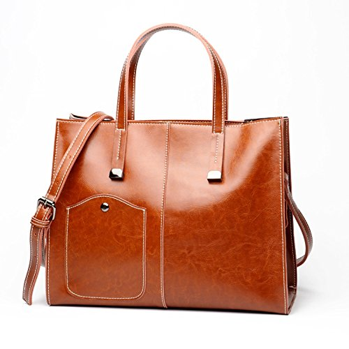 Moda Orlando Fashion Aceite Cera Brown Size Bag Sencillo Mano Brown Bolso M Beck Para color Cuero De Mujer Diagonal 7wP7Adq