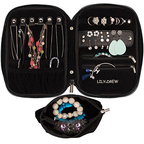 Zippered Jewelry Travel Case - 1