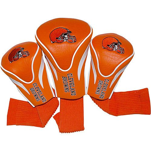 3 Headcovers Golf Pack (Team Golf Cleveland Browns 3 Pack Contour Headcover Golf Bag)