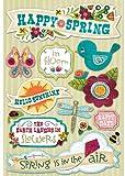 Karen Foster Design Acid and Lignin Free Scrapbooking Sticker Sheet, Happy Spring