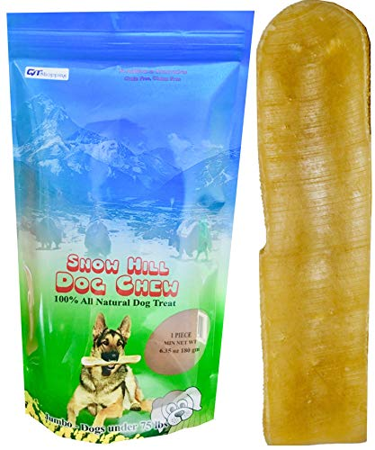 Cheap Snow Hill Dog Chews Size XL 6.35 oz Himalayan Yak Milk Cheese Natural Long Lasting Treats improved Oral Health Good for Crazy Chewer  above 50 lbs
