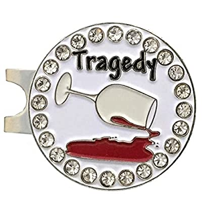 Giggle Golf Bling Tragedy Golf Ball Marker With A Standard Hat Clip
