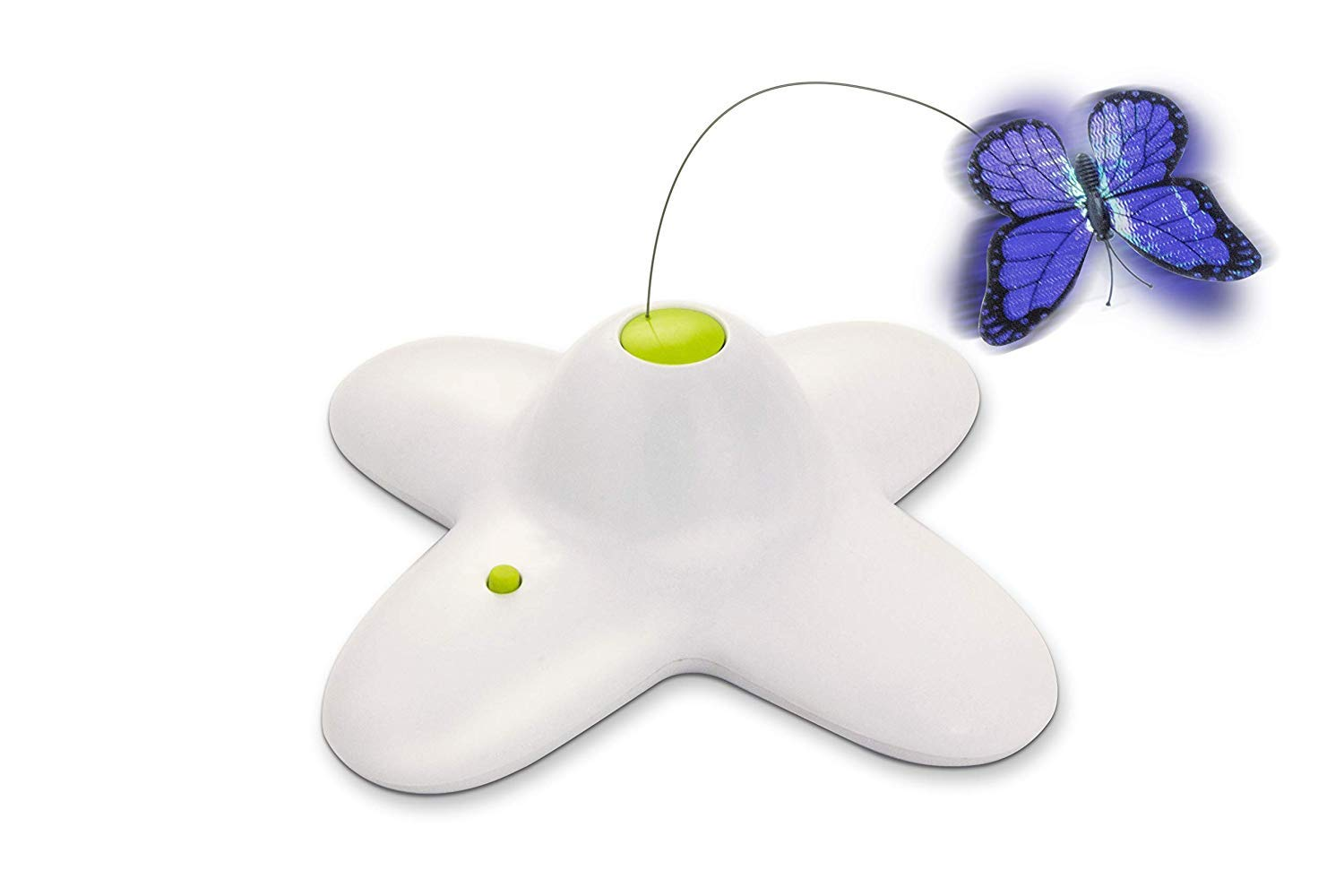 All for Paws Interactive Cat Butterfly Toy with Two Replacement Flashing Butterflies Toy by AFP