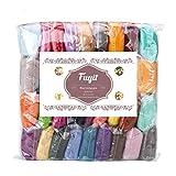 Fuyit Wool Roving 36 Colors 180g Needle Felting