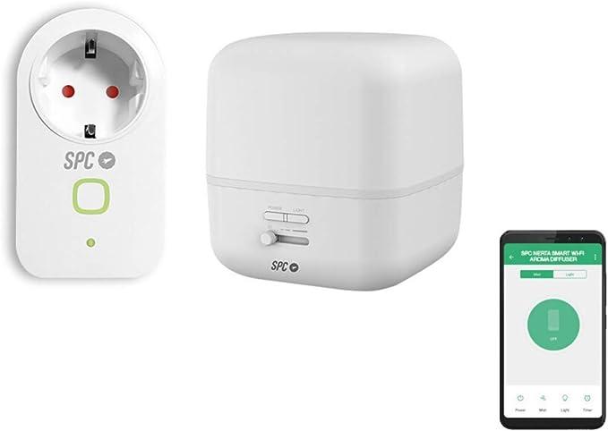 SPC Kit Iniciación Ambiente (enchufe y difusor de aromas inteligentes) Smart Home compatible con Amazon Alexa y Google Home: Spc-Internet: Amazon.es: Electrónica
