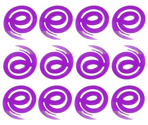 Lot of 12 Letter Slitters, Cyber Letter E, Safety Razor - Purple. - Lot Letter