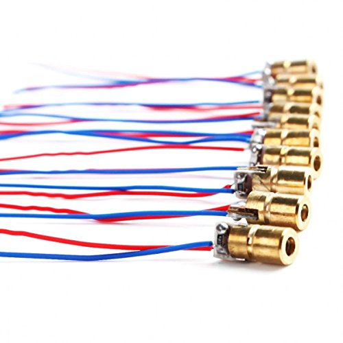 100X 3V 5mW 650nm 6mm Mini Laser Dot Diode Module Copper Head Red