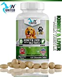 United Nutritionals - Kidney and Liver Support for Dogs with Milk Thistle, Detox, DHA, EPA, Hepatic Support, Omega-3 Fish Oil, 60/120 Chewable Tablets (60)
