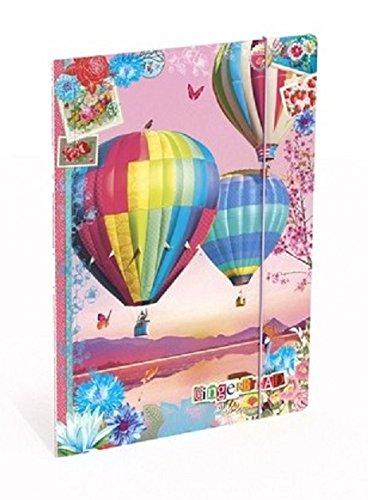 LANNOO 3 Rabats 1 Chemise Elastique Cartonn/ée GINGERBREAD 24 x 32 cm