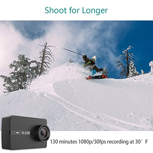 51VX%2BqnDPRL - YI Lite Action Camera, Sony Sensor 16MP Real 4K Sports Camera with Built-in WiFi, 2 Inch Touchscreen,150° Wide Angle Lens and EIS- Black