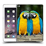 Head Case Designs Colourful Macaw Parrot Couple Famous Animals Soft Gel Back Case Cover for Apple iPad Air 2