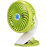 Mini Fans ,ODGear Small Portable Personal HandHeld Desk Desktop Table Battery Or USB Operated Clip Fan (Green)