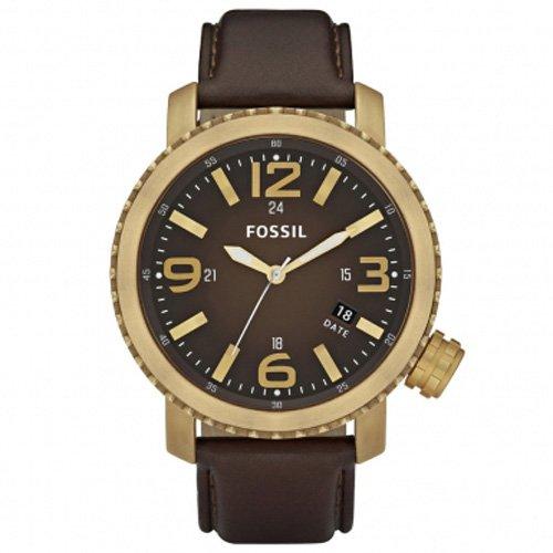 Fósil de hombre bronce vintaged de1002 - Reloj analógico con correa de piel color marrón: Amazon.es: Relojes