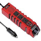 BYGD Car Power Inverter Outlet Adapter 150W 12V DC to 110V AC Converter