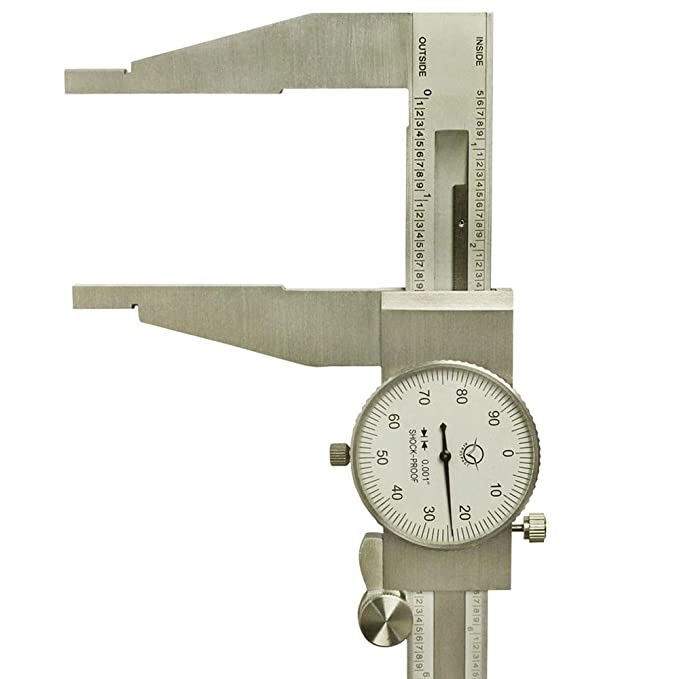 HD 18/'/' Long Range Dial Caliper Shockproof 0.001/'/' Resolution