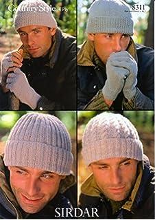 708502de992 King Cole Men s Hats   Scarves Merino Aran Knitting Pattern 3461 · 4.9 out  of 5 stars 20 · £4.19 · Sirdar 8311 Knitting pattern