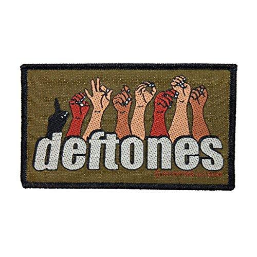 (Deftones Sign Language Logo Patch Metal Rock Band Jacket Woven Sew On Applique)