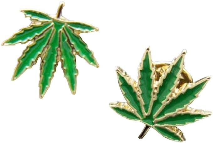 Cute//Stylish//Fun for Denim-Jacket//Backpack//Book bag Marijuana//Pot//Weed Single Leaf Pin