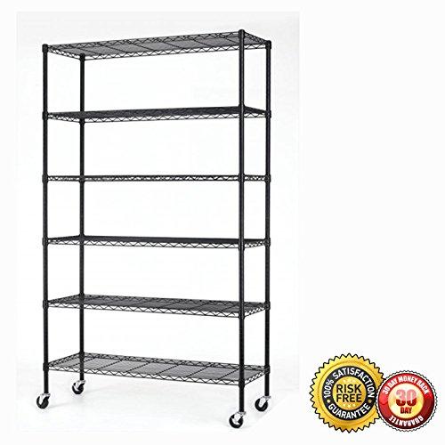 New 82''x48''x18'' 6 Tier Layer Shelf Adjustable Steel Wire Metal Shelving Rack