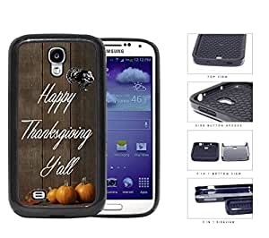 Happy Thanksgiving Y'All Wood Fence Pumpkin 2-Piece Dual Layer High Impact Rubber Silicone Cell Phone Case Samsung Galaxy S4 SIV I9500