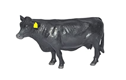 Realistic Black Angus Bull Little Buster Toys Angus Bull 1//16th Scale
