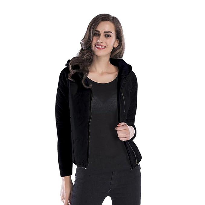 Mantel Damen,Dasongff Frauen Herbst Winter Baumwollejacke Mit Kapuze Mantel  Jacke Dicke warmer Baumwollmantel Übergangsjacke 419ad6f965