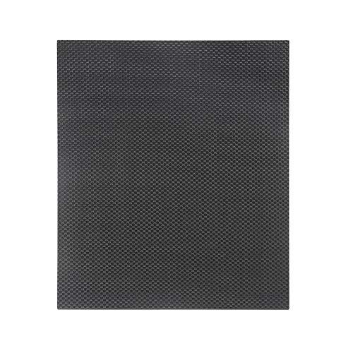 230 * 170 * 0,5 mm Hoja de panel de placa de fibra de carbono completa Tejido liso 3K con superficie de brillo de ambos lados para placa de plano RC - Negro