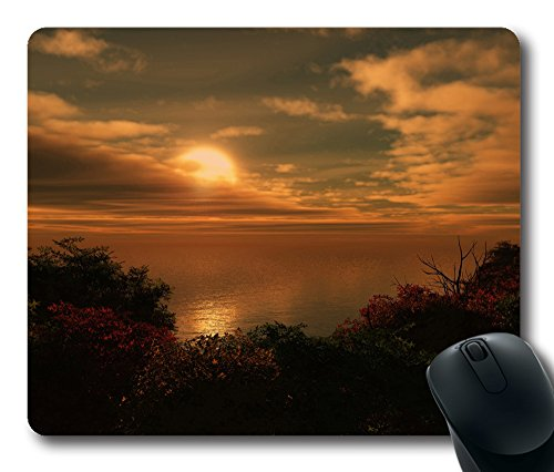 The Sun Goes Down 3D Gaming Mouse Pad Personalized Hot Oblong Shaped Mouse Mat Design Natural Eco Rubber Durable Computer Desk Stationery Accessories Mouse Pads For Gift - Support Wired Wireless or Bluetooth Mouse