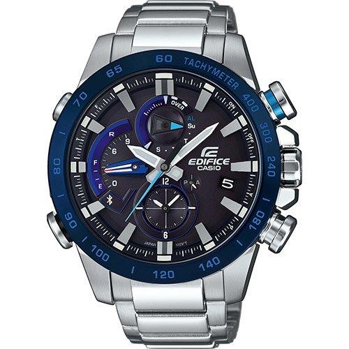 Casio Reloj Cronógrafo para Hombre de Cuarzo con Correa en Acero Inoxidable EQB-800DB-1AER: Amazon.es: Relojes