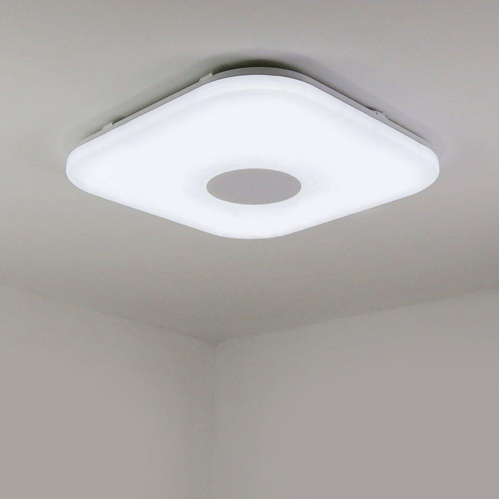 NATSEN 12-Watt Modern Square Ceiling Flush Mount Lighting for Children's Room, Closet and Bathroom Natural White 4500K (NOT DIMMABLE)