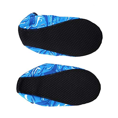 CUSHY 2PCS Summer Water Sports Camouflage Diving Socks Swimming Snorkeling Non-Slip Seaside Beach Shoes for Adult Child Beach Socks: L