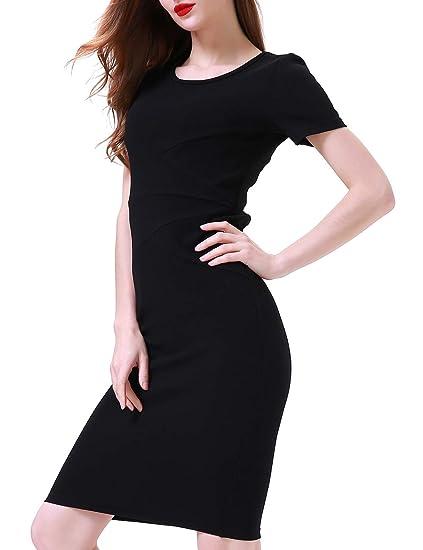 Aphratti Womens Casual Short Sleeve Wear To Work Bodycon Sheath