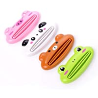 Heyuni.1PC Bathroom Home Tube Rolling Holder Squeezer Cartoon Toothpaste Dispenser Random Color