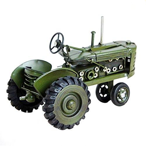 Weltzukaufen Traktor Modell Blechtraktor Blechmodell Tin Modell Vintage Tractor Retro-Stil Deko in Grün/Rot 17*10*11cm/25*13*15cm (25*13*15cm, Grün)