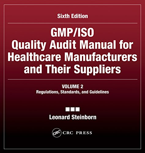 Download GMP/ISO Quality Audit Manual for Healthcare Manufacturers and Their Suppliers, (Volume 2 – Regulations, Standards, and Guidelines): Regulations, Standards, and Guidelines Pdf