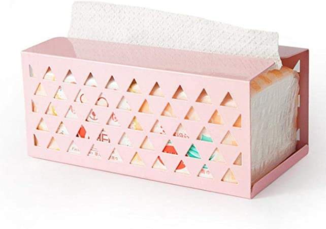 LINCH Caja de pañuelos de Hierro Servilleta de Papel para servilletas Caja de pañuelos Caja de