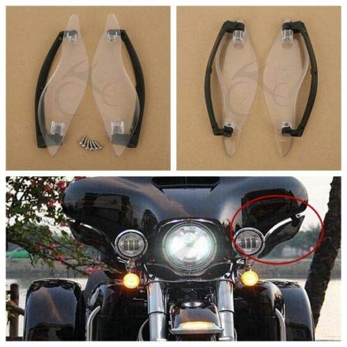 (Value-Home-Tools - Clear Side Wings Windshield Air Deflectors For Harley Davidson Touring Street Electra Glide 2014-)