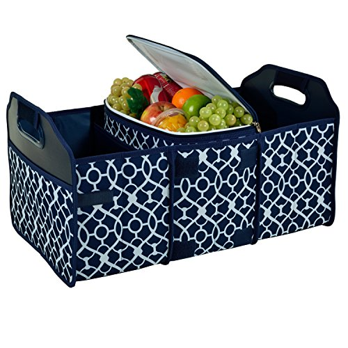 Picnic at Ascot 3 Section Folding Trunk Organizer- with Removable Cooler- Designed & Quality Approved in the - Ascot Folding