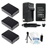 3-Pack LP-E12 High-Capacity Replacement Batteries with Rapid Travel Charger for Select Canon Digital Cameras. UltraPro Bundle Includes: Deluxe Cleaning Kit, LCD Screen Protector, Mini Travel Tripod