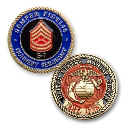 Marine Corps E7 Gunnery Sergeant Coin by Coins For Anything Inc - Marine Corps Gunnery