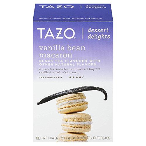 Tazo Vanilla Bean Macaron 15 Black Tea filterbags, total 1.11 oz , pack of 1