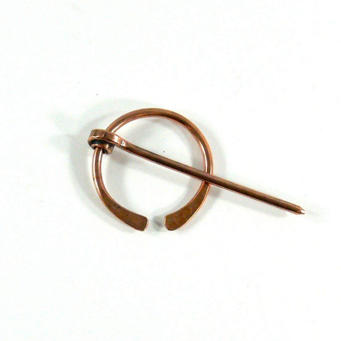 Handmade Copper Penannular Brooch Viking Pin