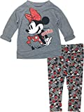 Disney Girls' Minnie Mouse Long-Sleeve Fashion Shirt & Legging Outfit Set