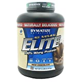 Dymatize All Natural Elite 100% Whey Protein, Rich Chocolate, 5 lbs