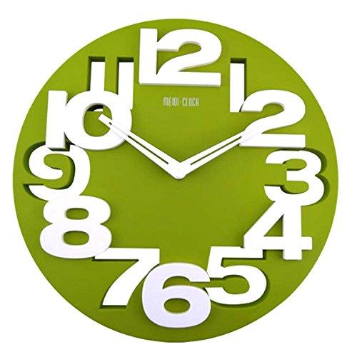 3 opinioni per Tinksky Novità cavo 3D grandi cifre tondo sagomato parete orologio Art Orologio